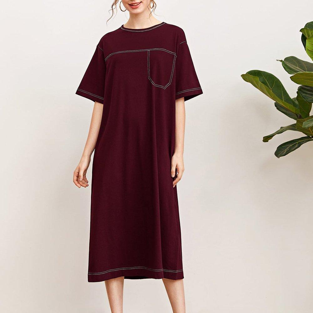 Robe t-shirt avec couture - SHEIN - Modalova