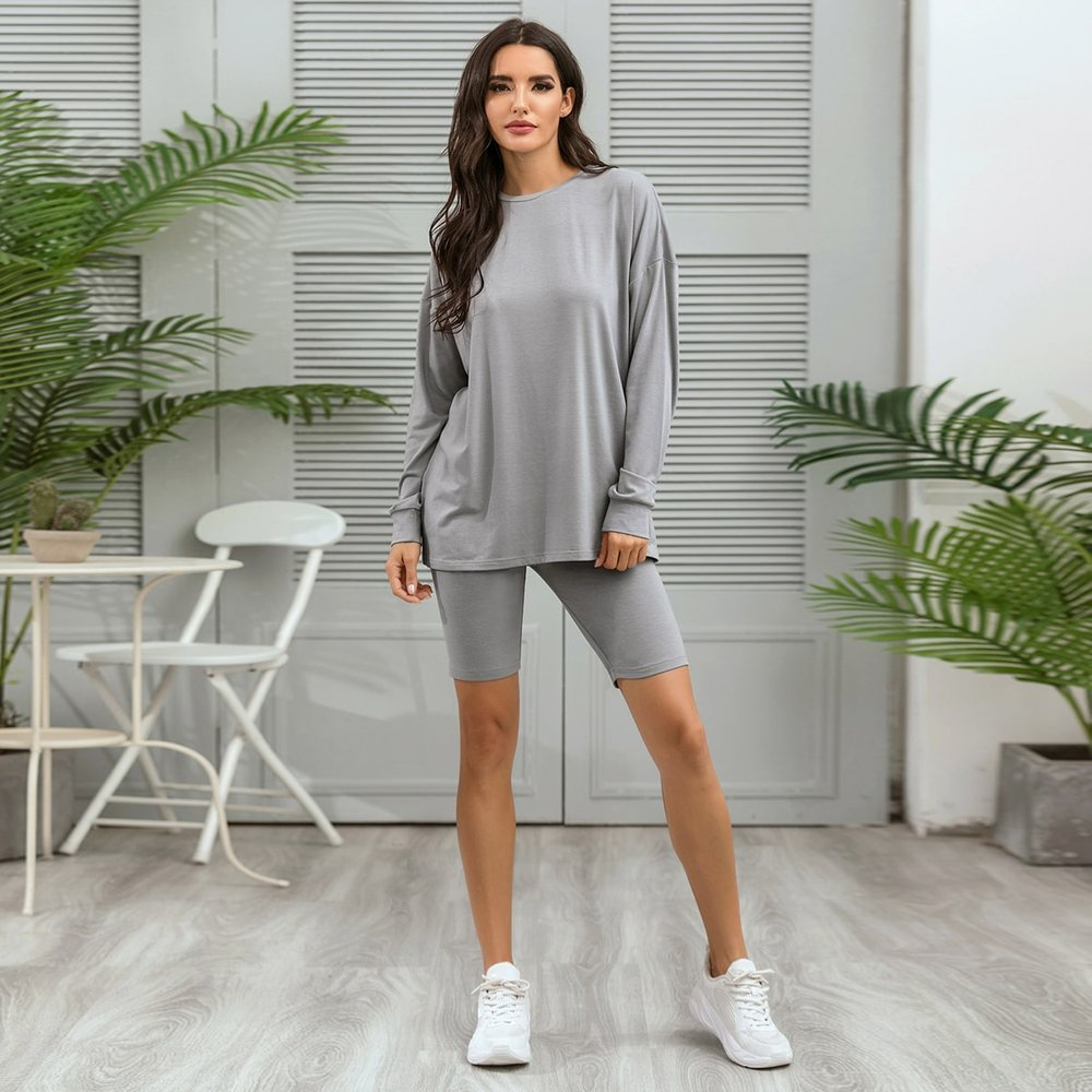 Ensemble t-shirt et short cycliste - SHEIN - Modalova