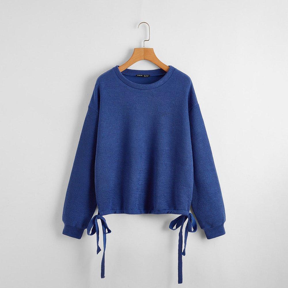Sweat-shirt avec nœud - SHEIN - Modalova
