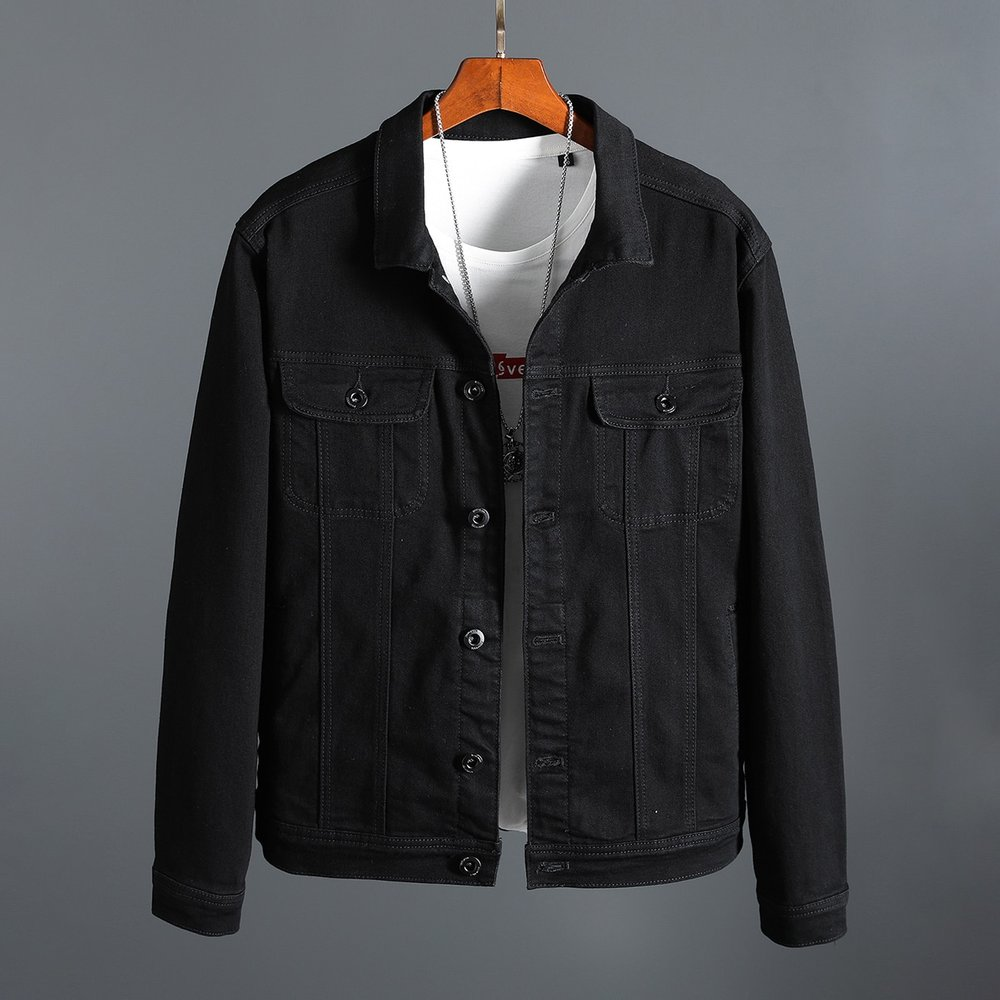 Veste en jean avec broderie(sans t-shirt et collier) - SHEIN - Modalova