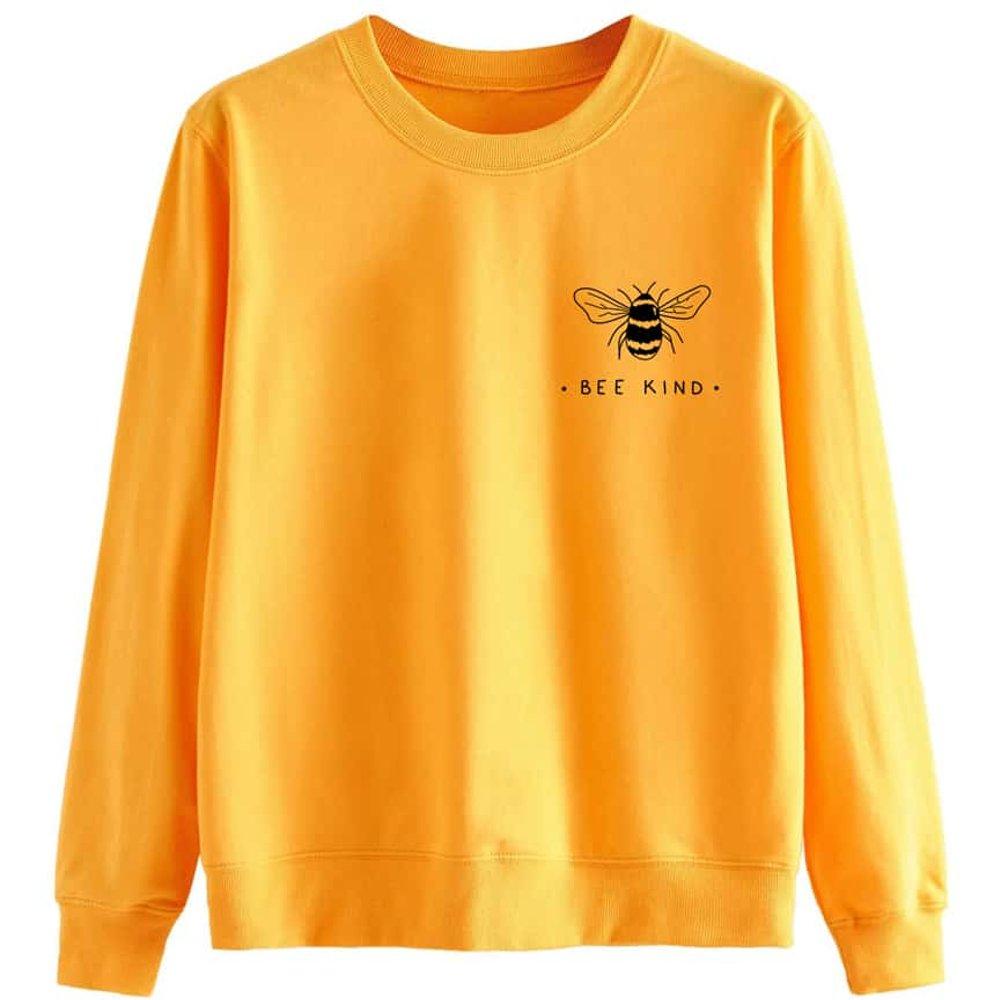 Sweat-shirt à motif abeille - SHEIN - Modalova