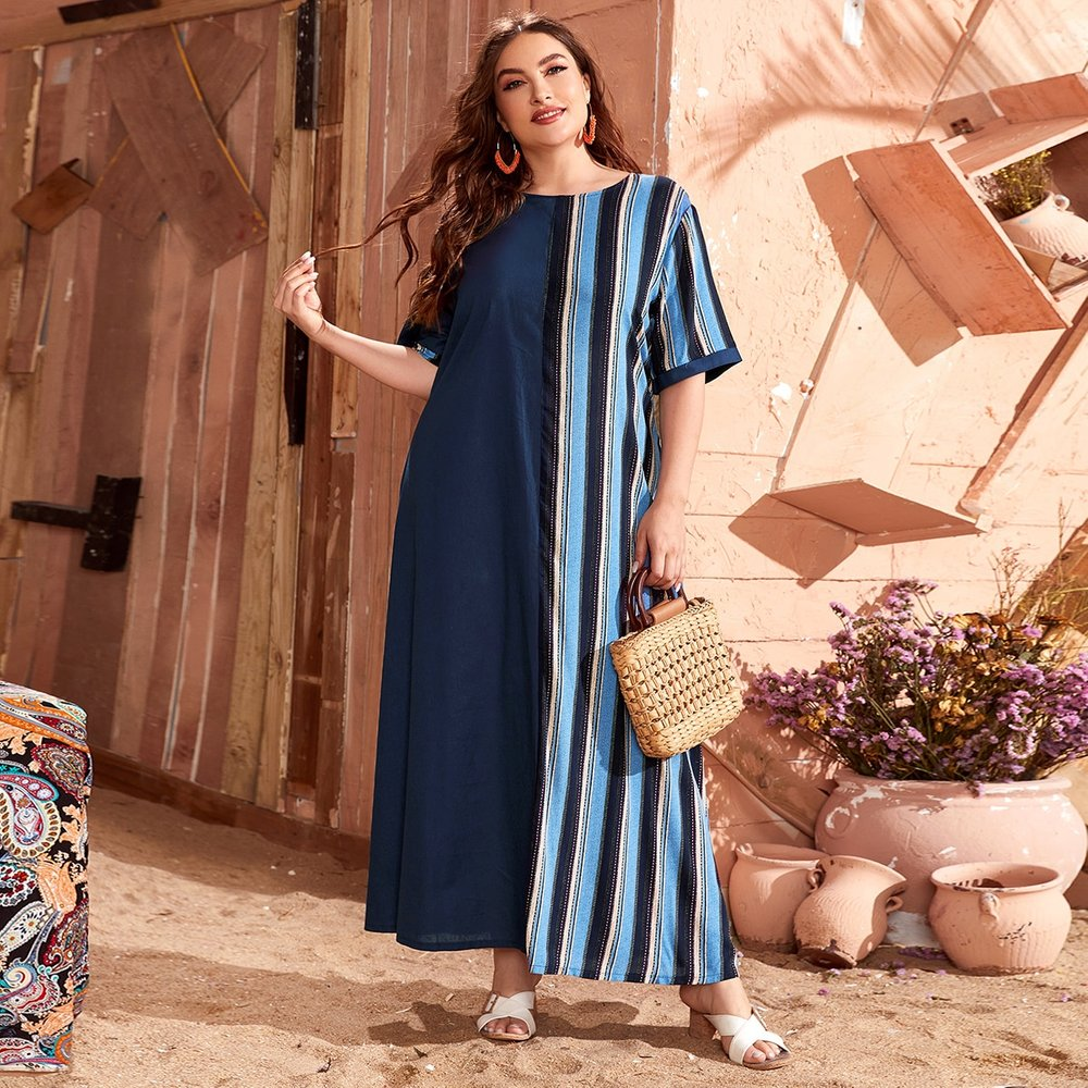 Robe tunique longue rayée - SHEIN - Modalova