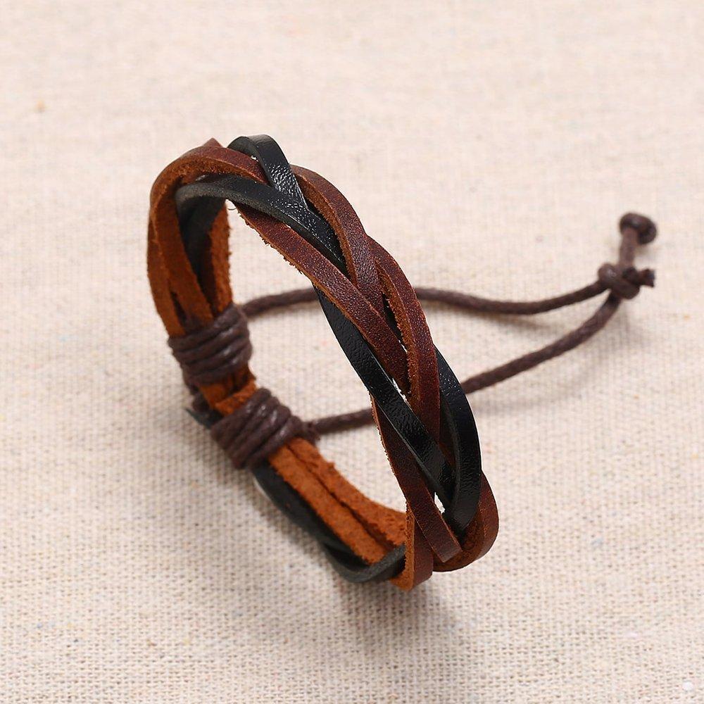 Homme Bracelet tressé en cuir PU - SHEIN - Modalova