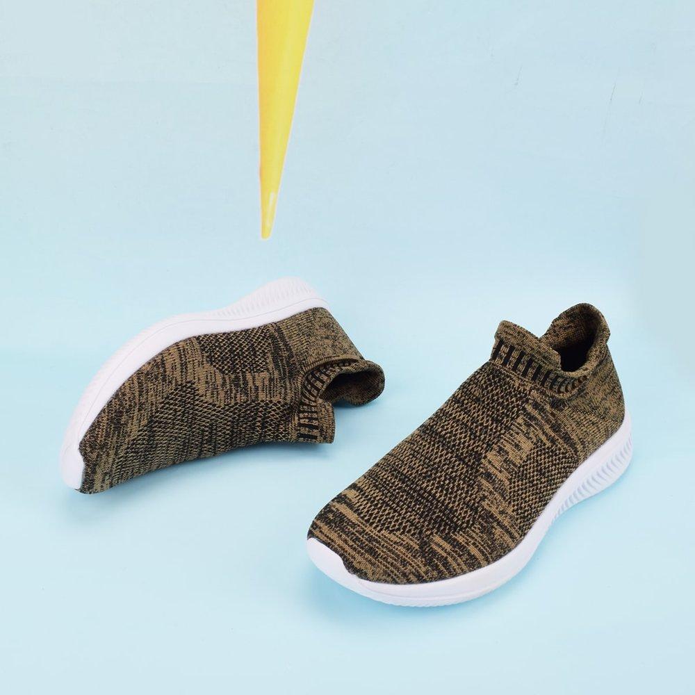 Homme Baskets glissantes en tricot - SHEIN - Modalova