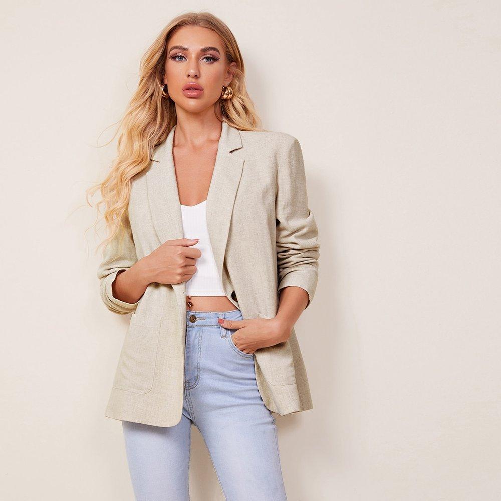 Blazer avec poches - SHEIN - Modalova