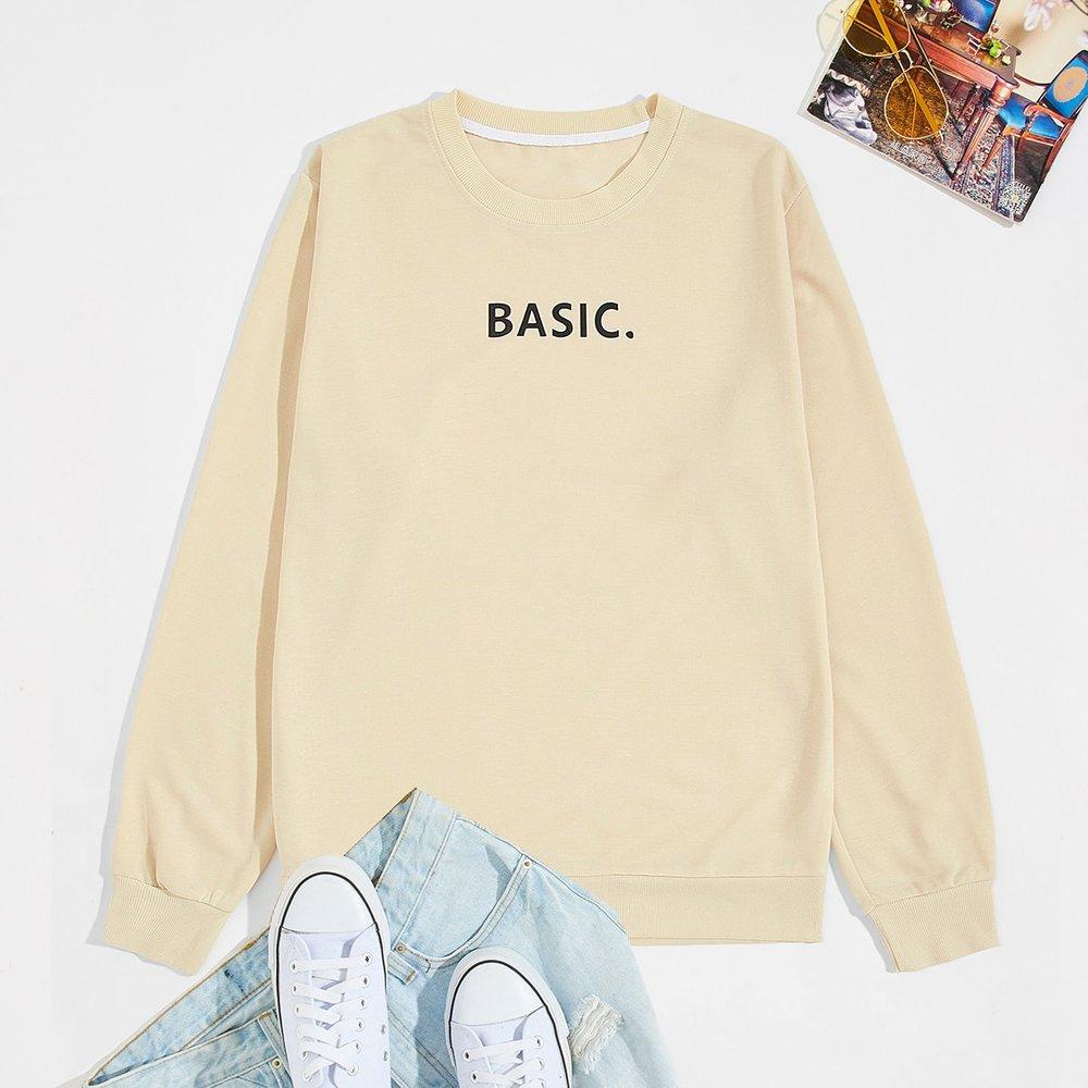 Sweat-shirt à lettres - SHEIN - Modalova