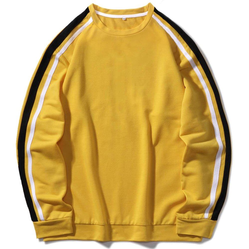 Sweat-shirt avec rayures - SHEIN - Modalova