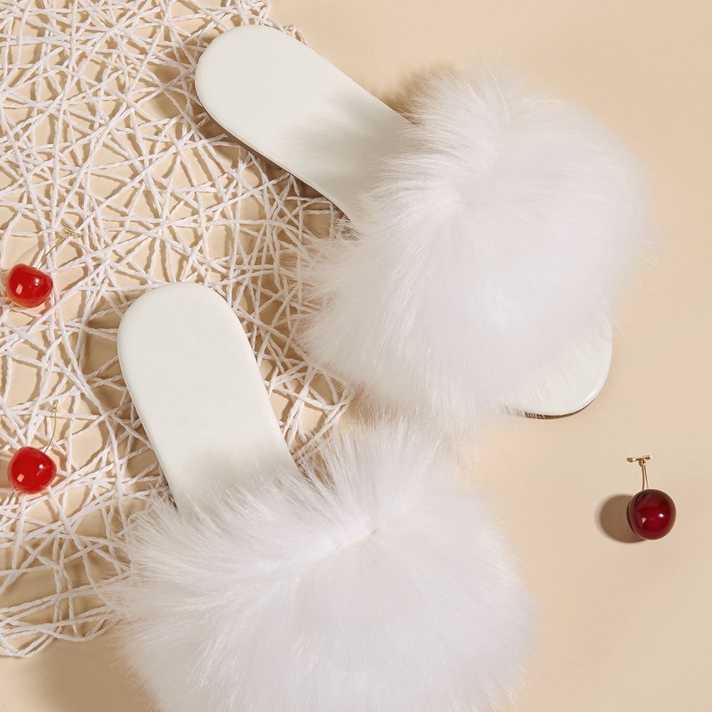 Sandales avec fourrure synthétique - SHEIN - Modalova