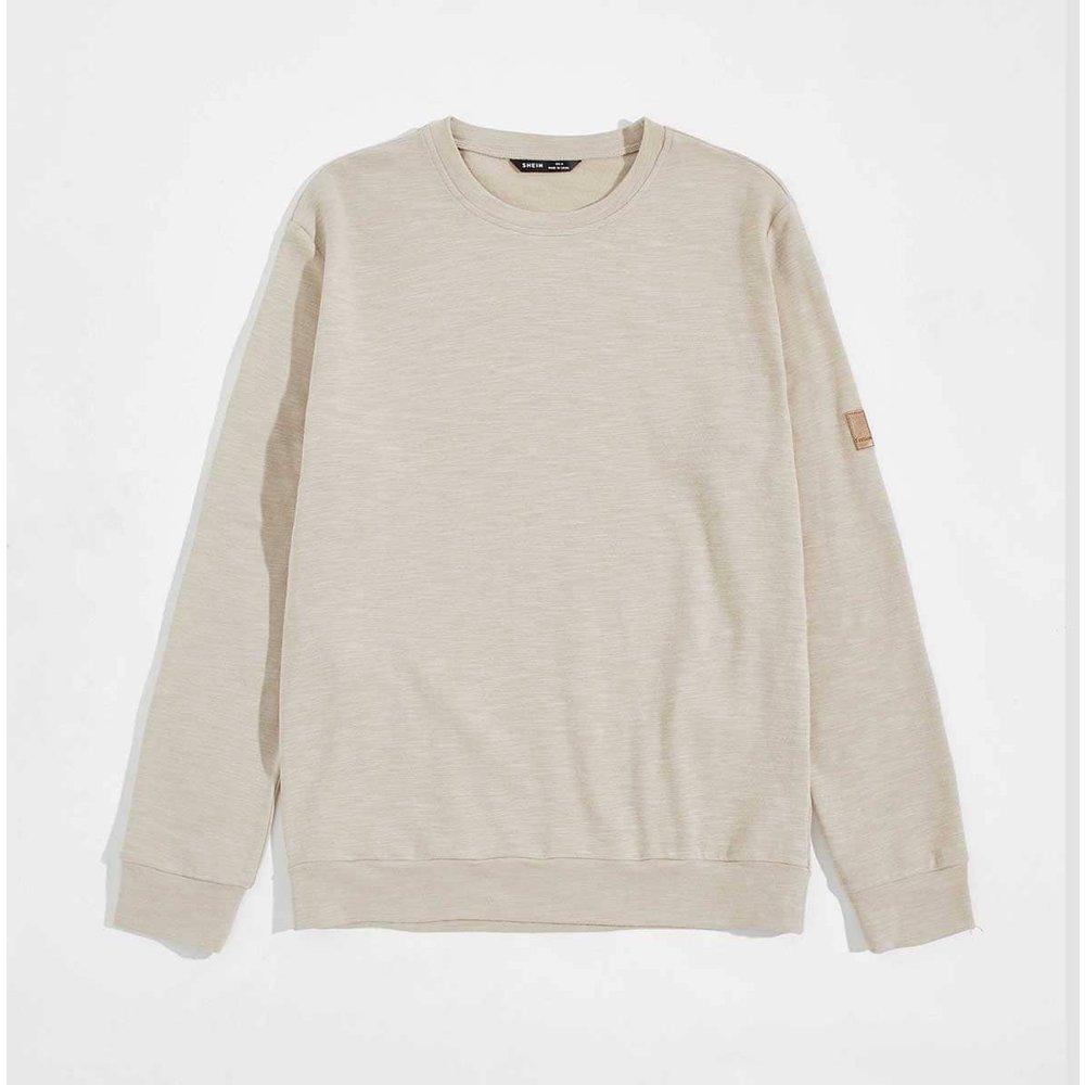 Sweat-shirt avec applique - SHEIN - Modalova