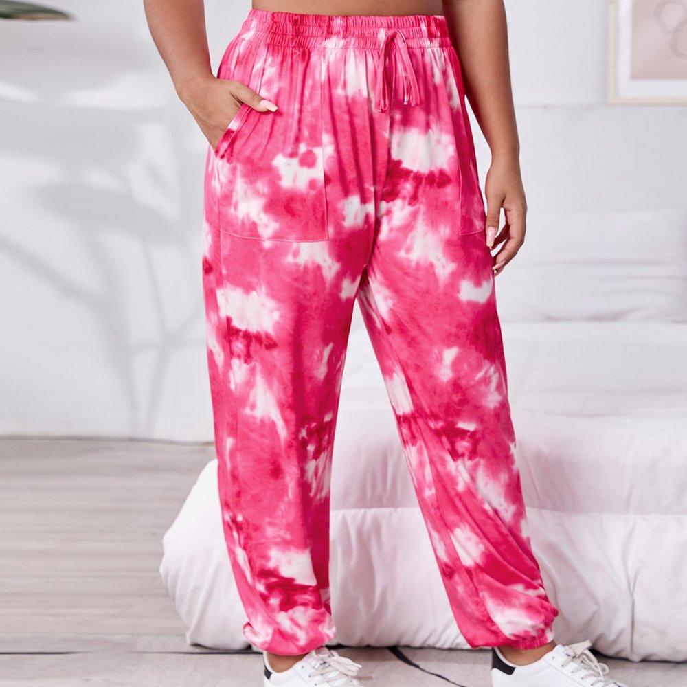 Pantalon de pyjama tie dye - SHEIN - Modalova