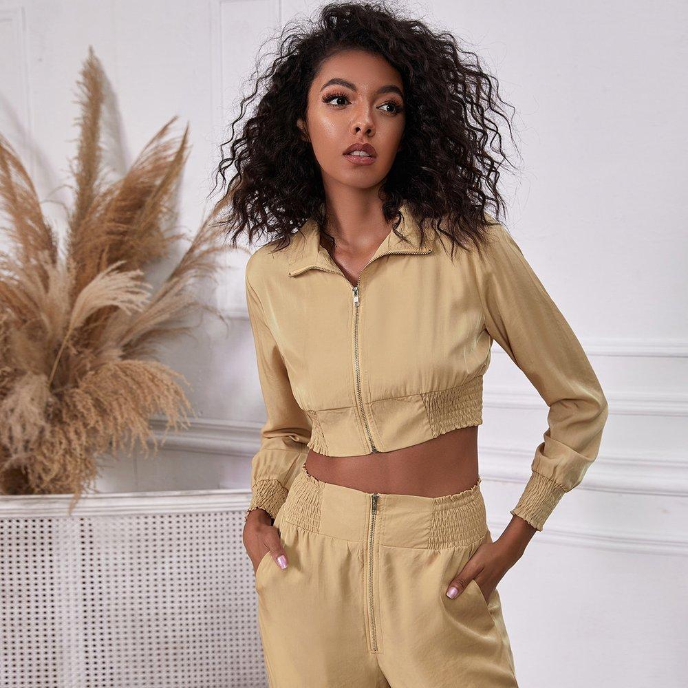 Veste courte avec zippée - SHEIN - Modalova