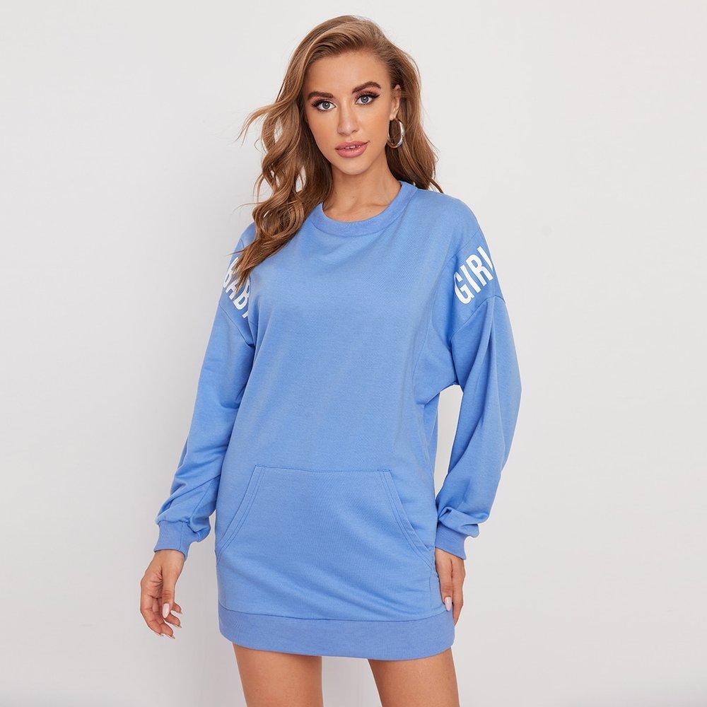 Robe sweat-shirt avec poche - SHEIN - Modalova