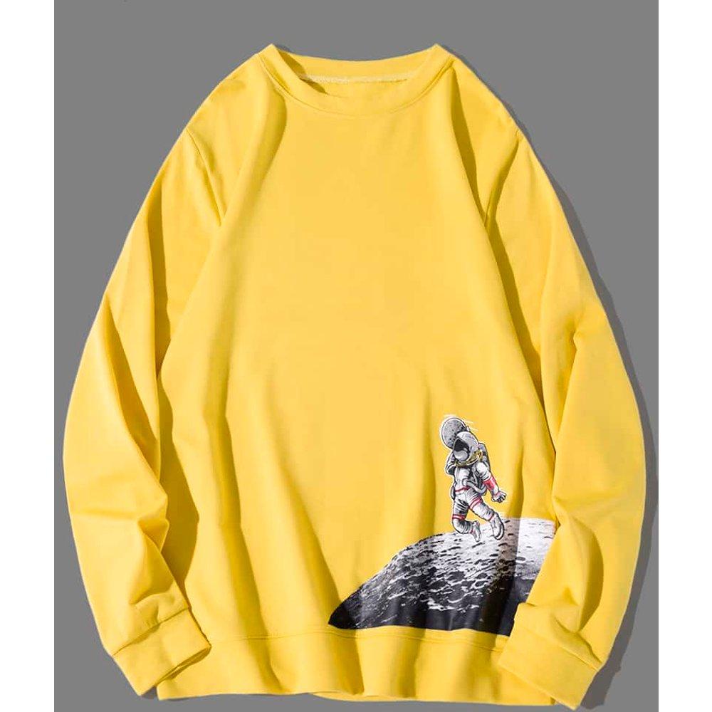 Sweat-shirt à imprimé - SHEIN - Modalova