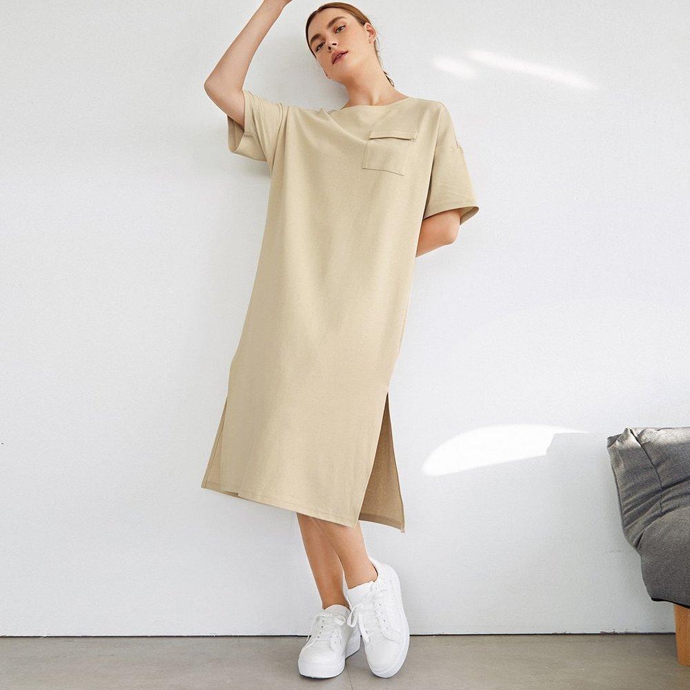 Robe t-shirt fendue - SHEIN - Modalova