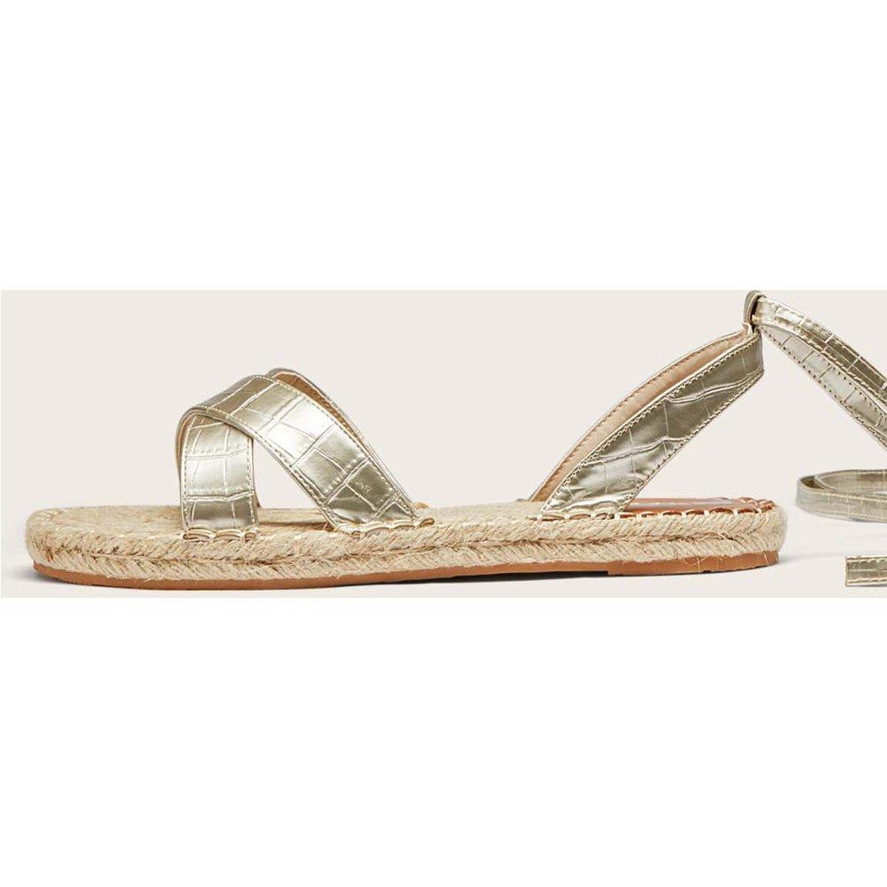 Sandales espadrilles à motif crocodile - SHEIN - Modalova