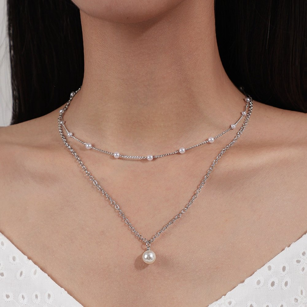 Collier avec fausse perle - SHEIN - Modalova