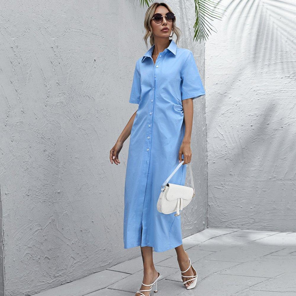 Robe chemise avec boutons - SHEIN - Modalova