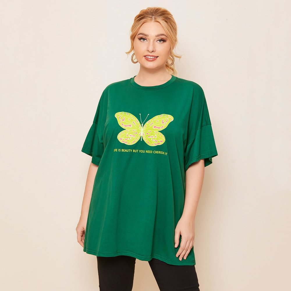 Top à imprimé papillon - SHEIN - Modalova