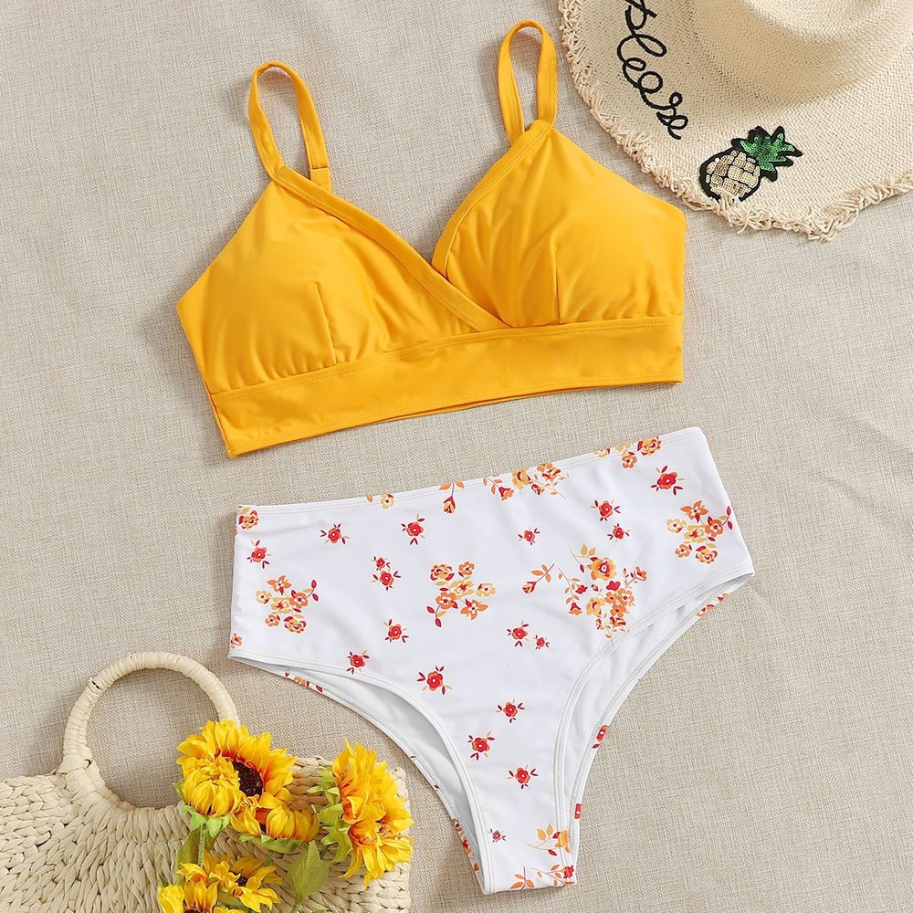 Bikini fleuri - SHEIN - Modalova