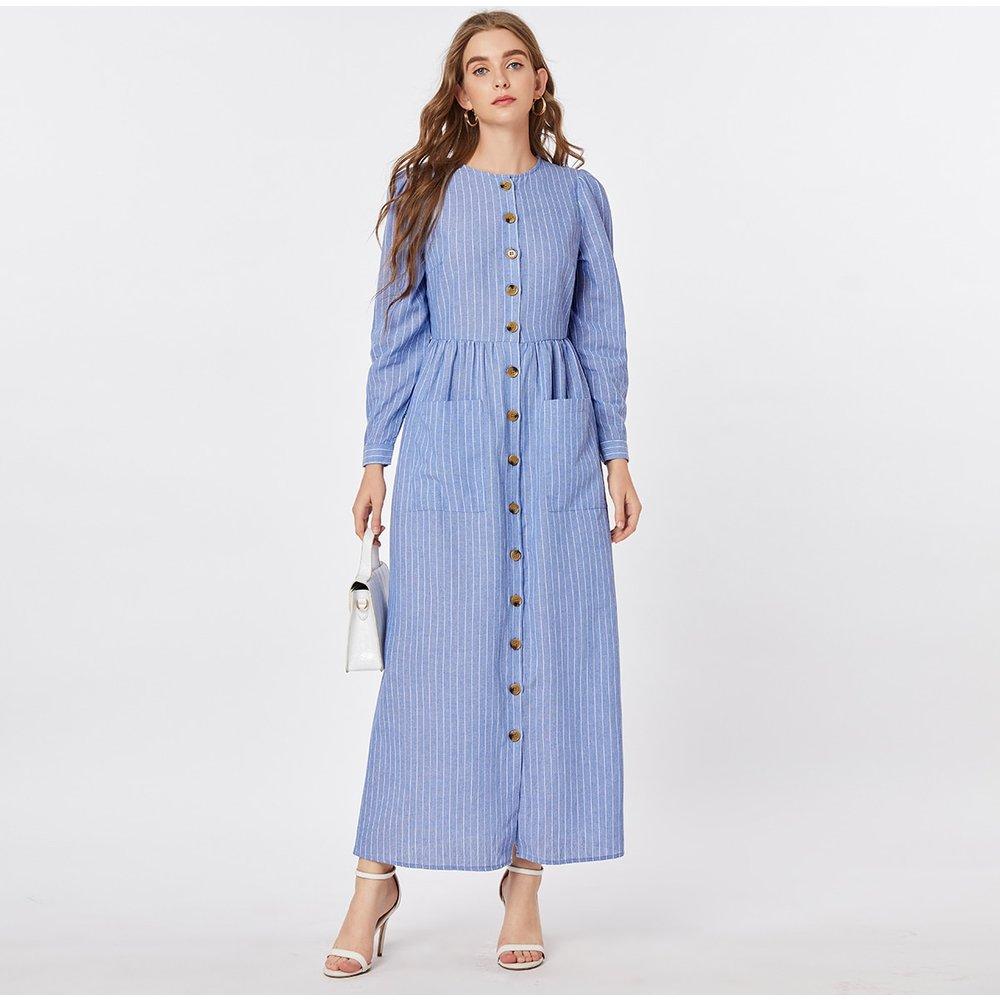 Robe rayée avec boutons - SHEIN - Modalova