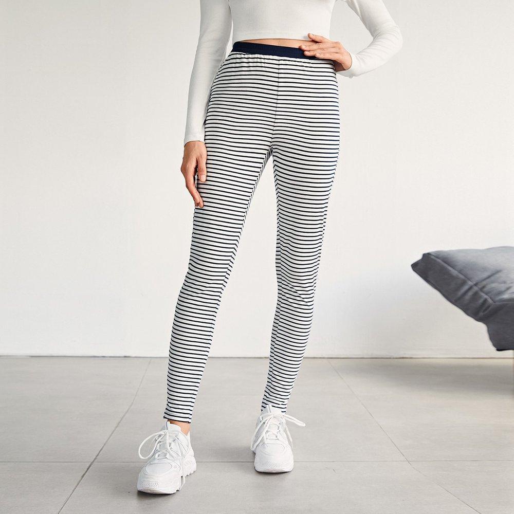 Legging rayé avec taille élastique - SHEIN - Modalova