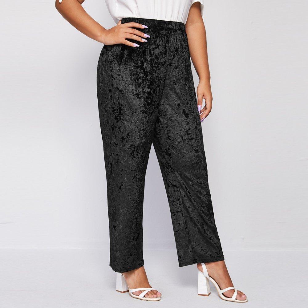Pantalon ample en velours - SHEIN - Modalova
