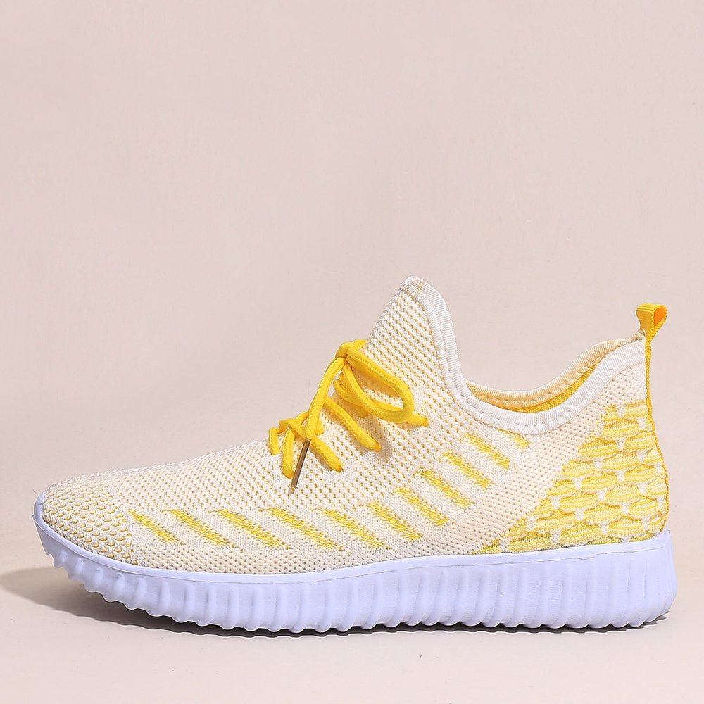 Baskets en tricot rayé à lacets - SHEIN - Modalova