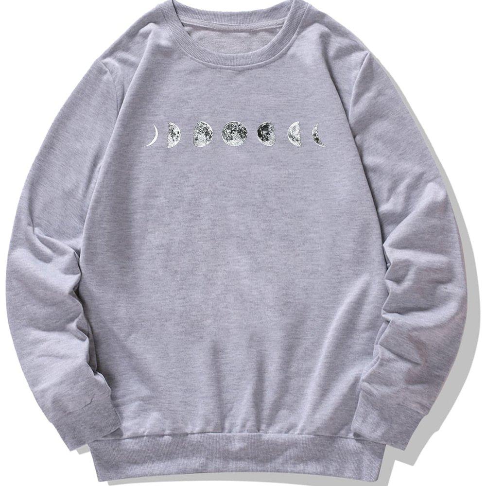 Sweat-shirt à imprimé lune - SHEIN - Modalova