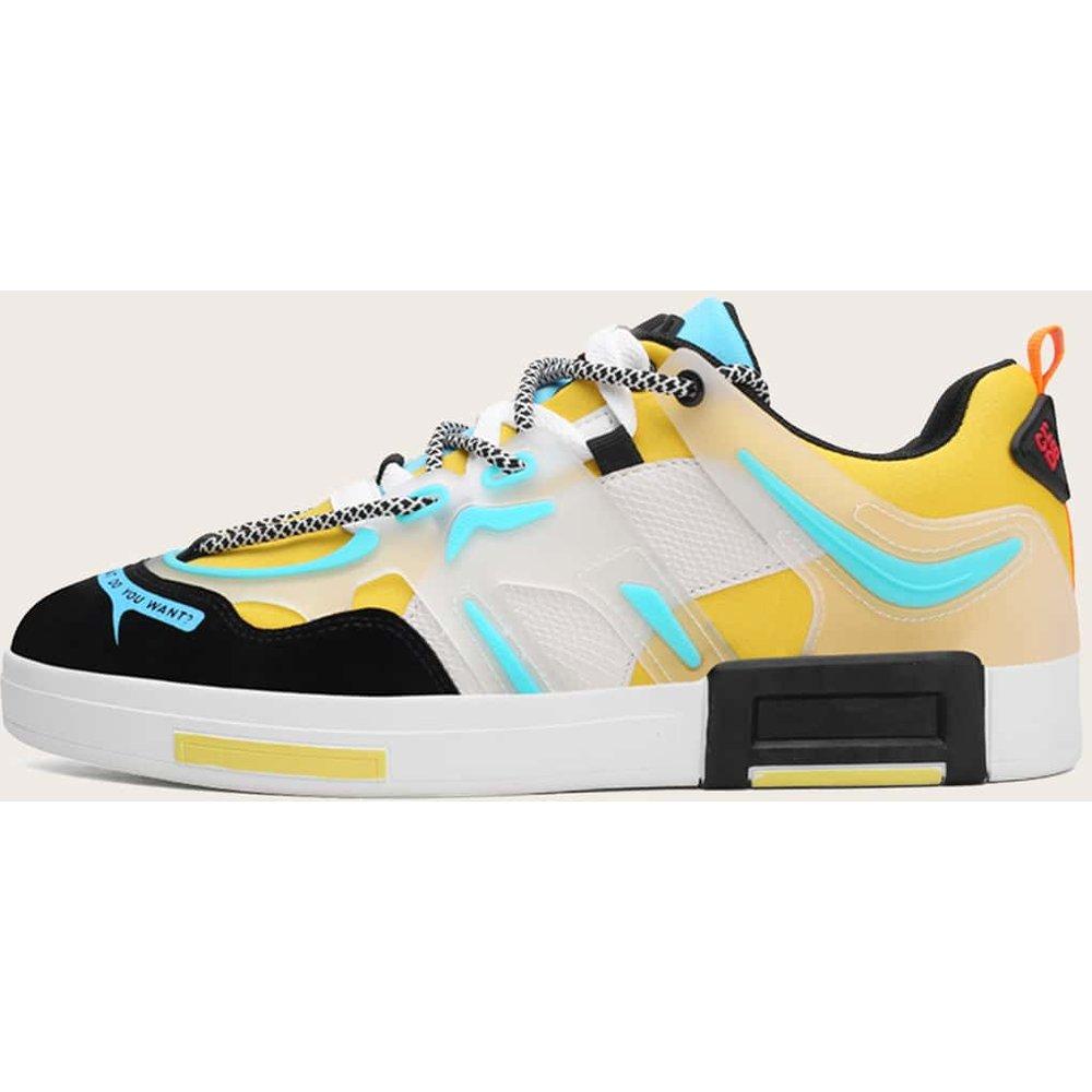 Chaussures de skateboard avec blocs de couleurs - SHEIN - Modalova