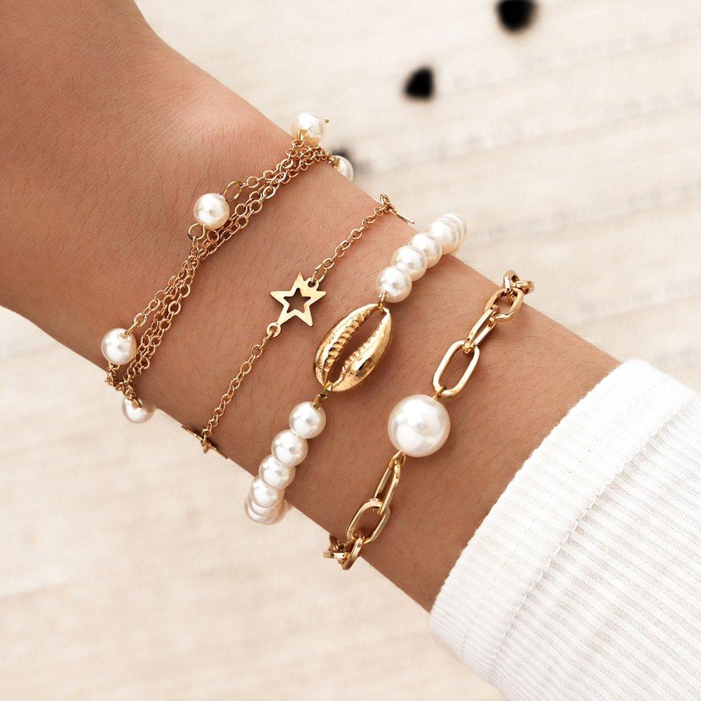 Pièces Bracelet avec fausse perle - SHEIN - Modalova