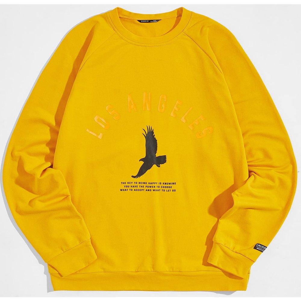 Sweat-shirt à motif aigle - SHEIN - Modalova