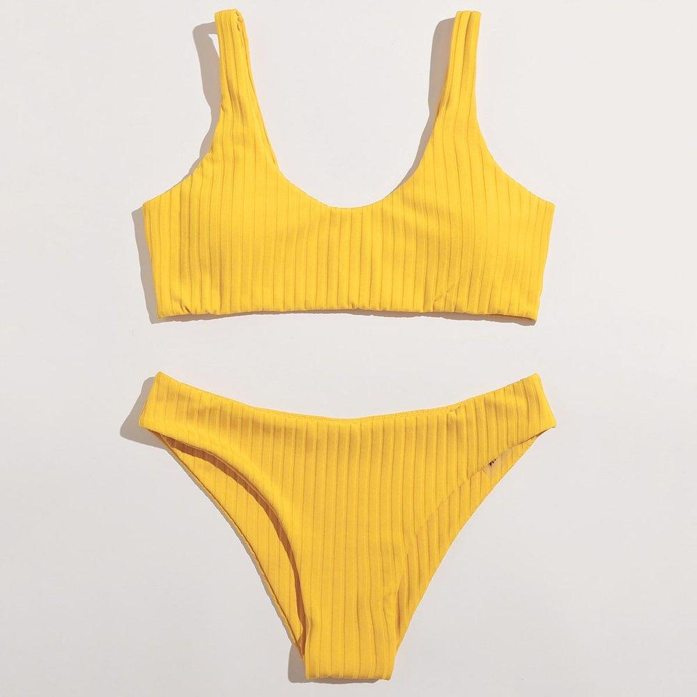 Bikini côtelé - SHEIN - Modalova