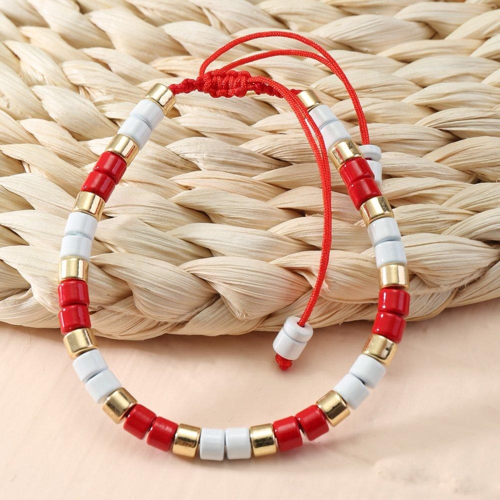 Bracelet avec perle versicolores - SHEIN - Modalova