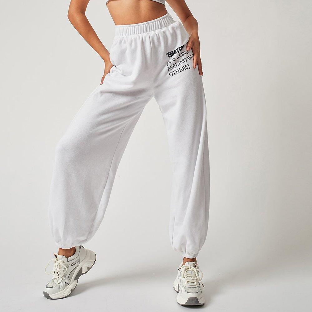 Pantalon de survêtement à slogan - SHEIN - Modalova