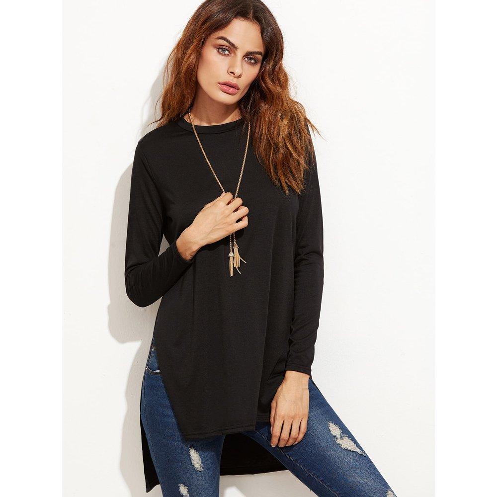 T-shirt col rond manche longue - SHEIN - Modalova