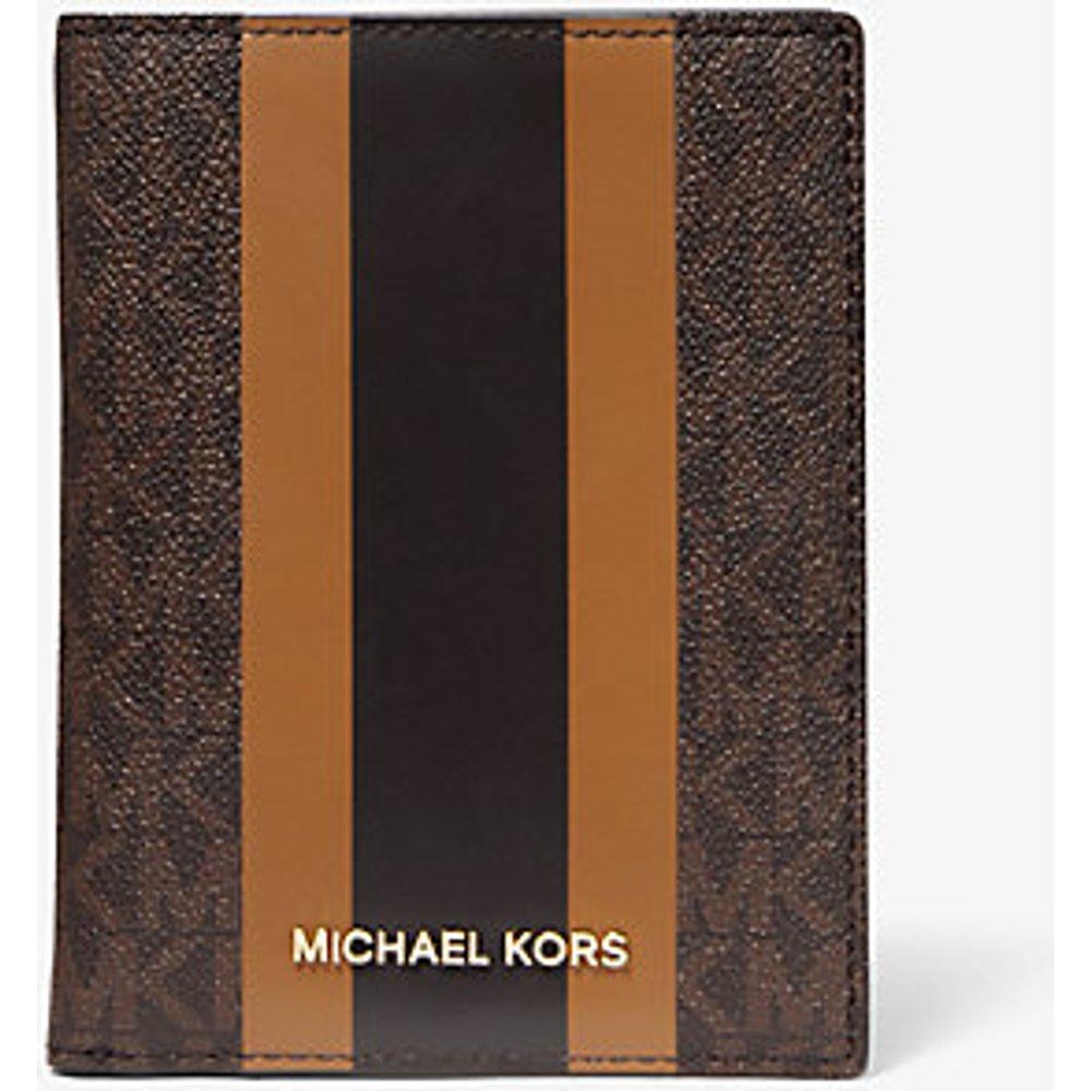 MK Porte-passeport Bedford Travel de taille moyenne �� rayures et logo - - Michael Kors - MICHAEL Michael Kors - Modalova