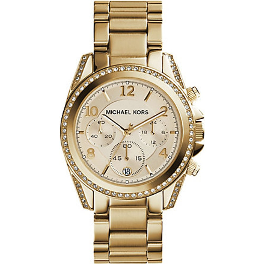 MK Montre chronographe Blair dorée  - Michael Kors - Modalova
