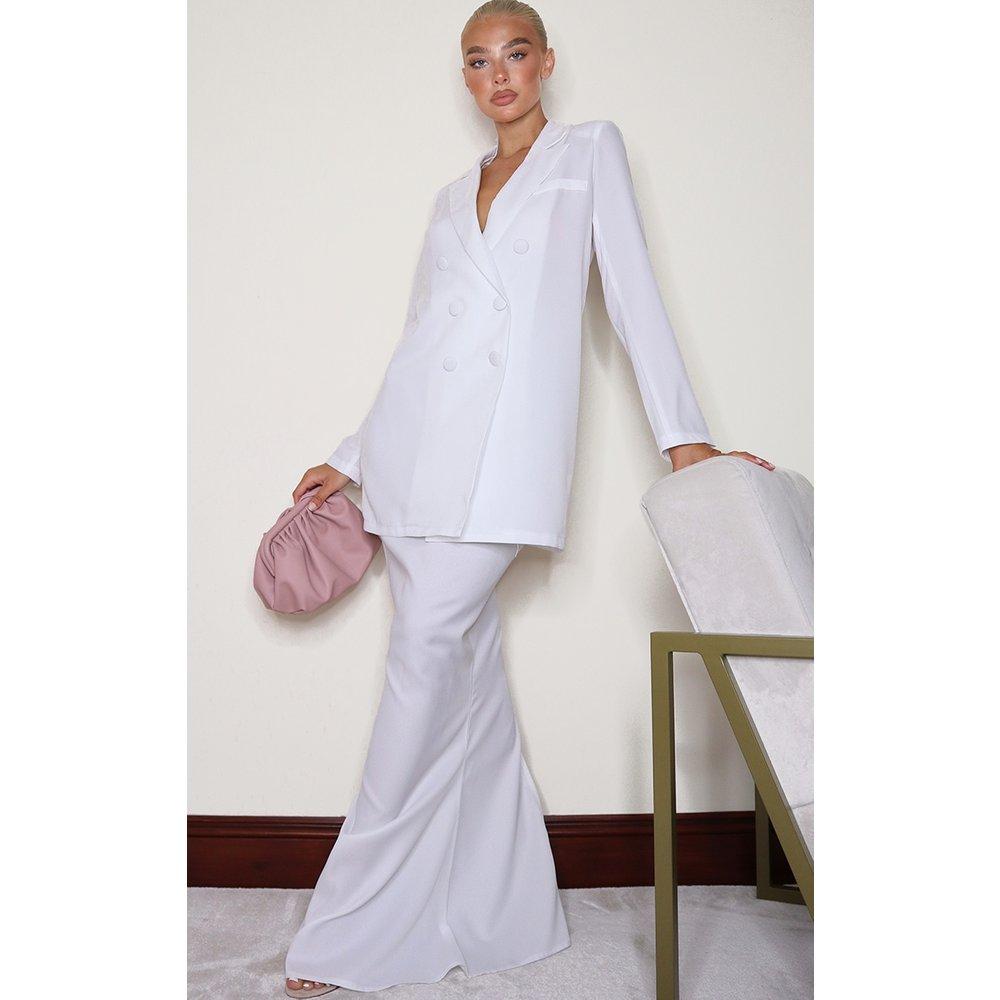 Jupe très longue blanche en maille tissée - PrettyLittleThing - Modalova