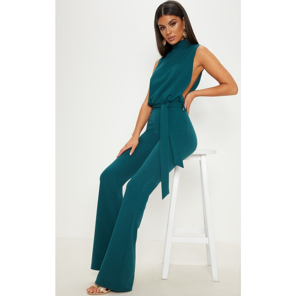 1c4a740b69b4 PrettyLittleThing scuba high neck tie waist jumpsuit at £25