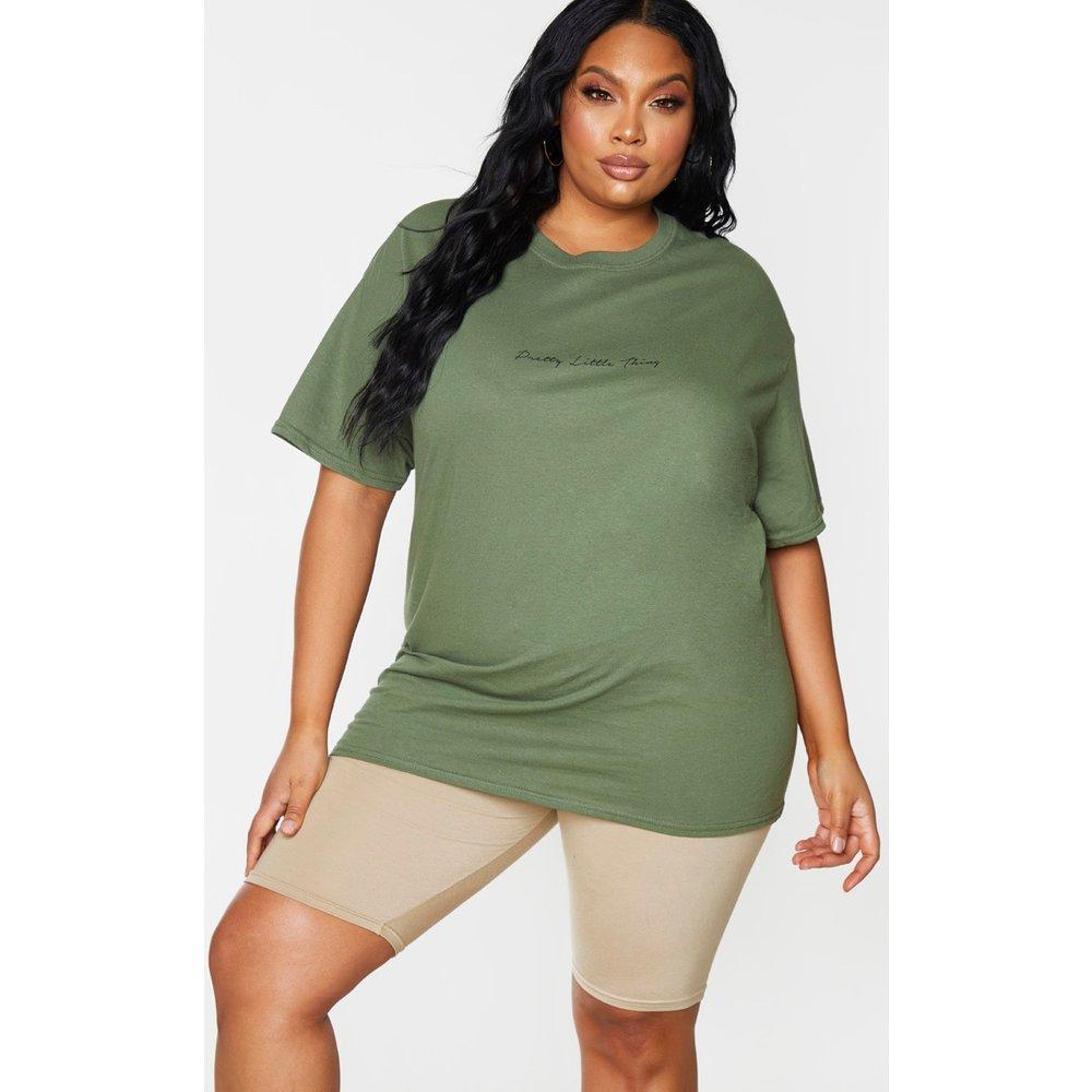 Plus - T-shirt oversize à slogan - PrettyLittleThing - Modalova