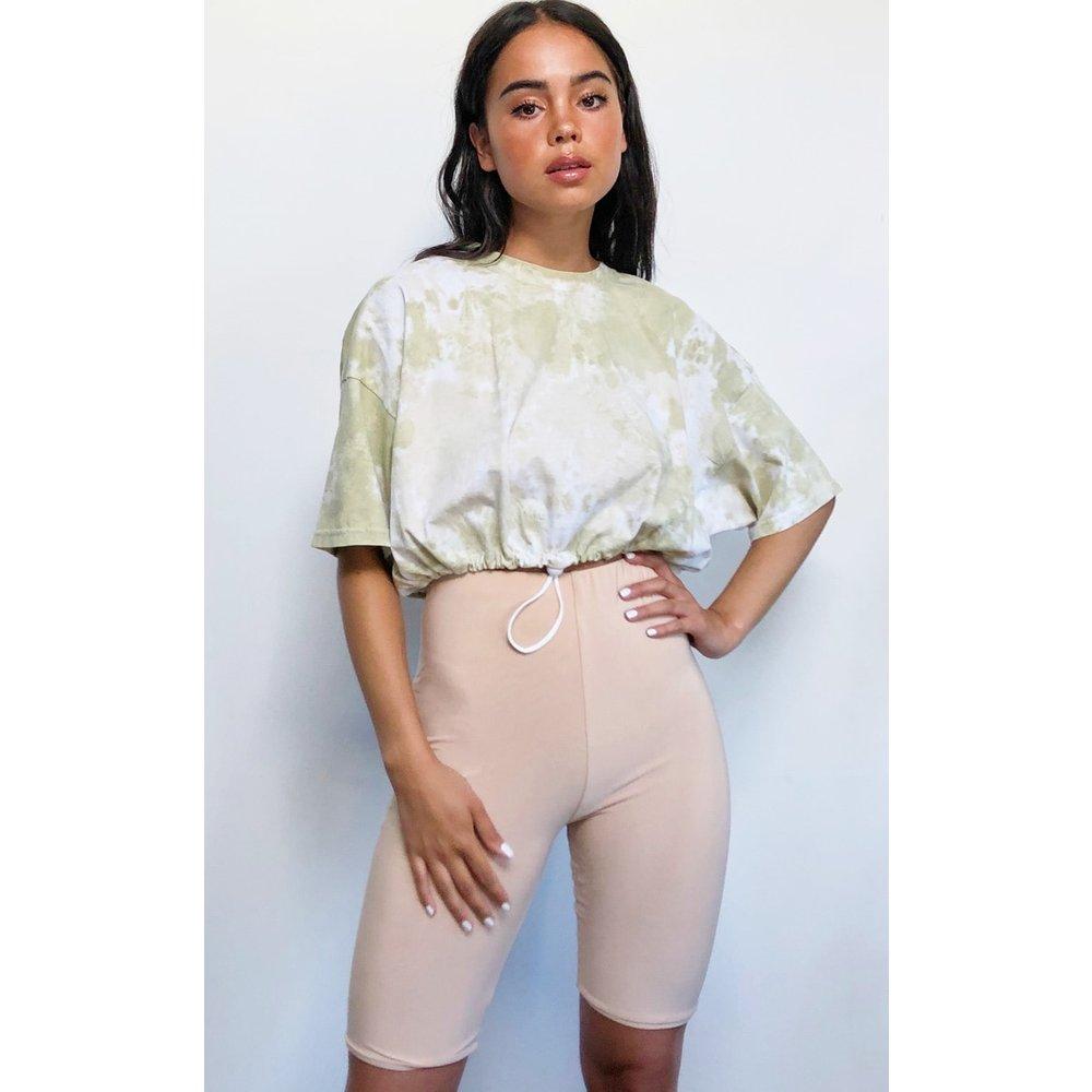 T-shirt oversize imprimé tie & dye à cordons élastiques - PrettyLittleThing - Modalova