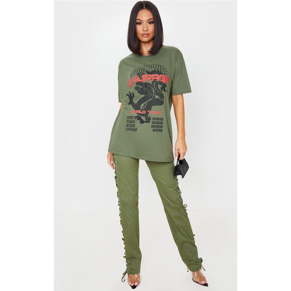 T-shirt oversize à imprimé Dragon - PrettyLittleThing - Modalova