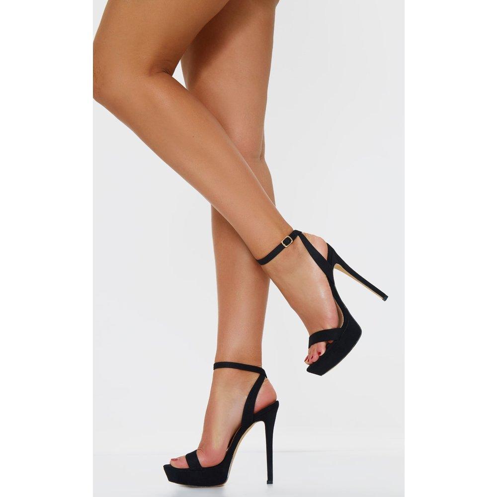 Sandales plateformes à talons stiletto en suédine  - PrettyLittleThing - Modalova