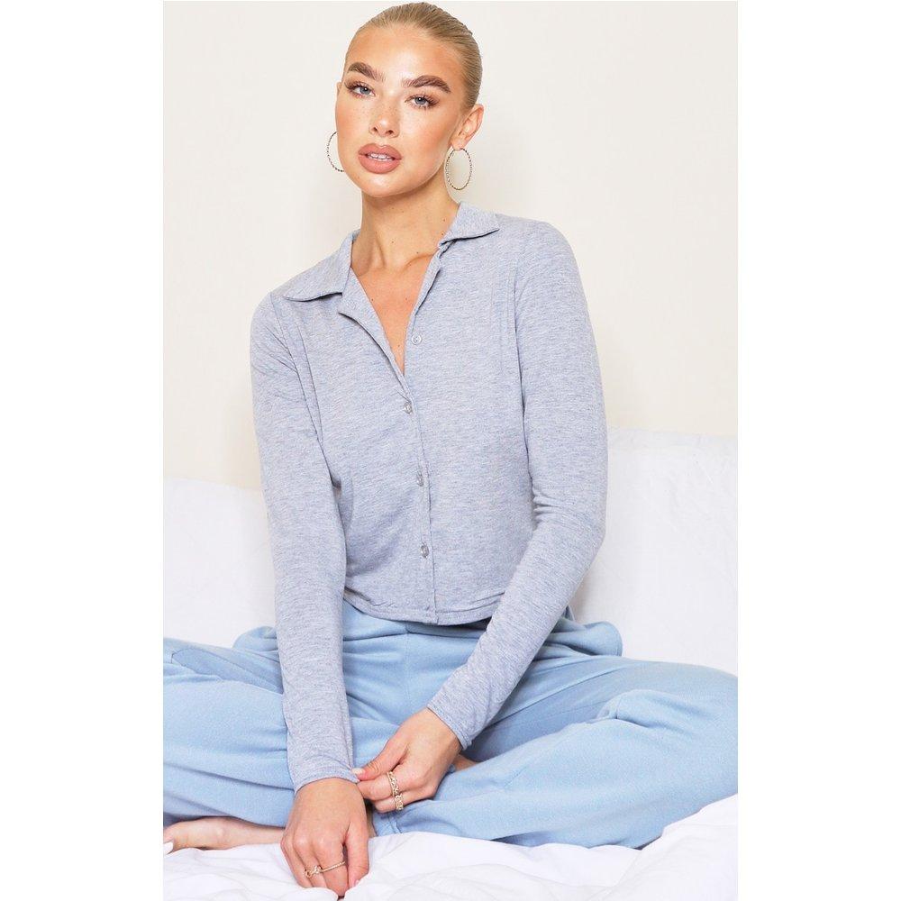 Chemise en jersey à boutons - PrettyLittleThing - Modalova