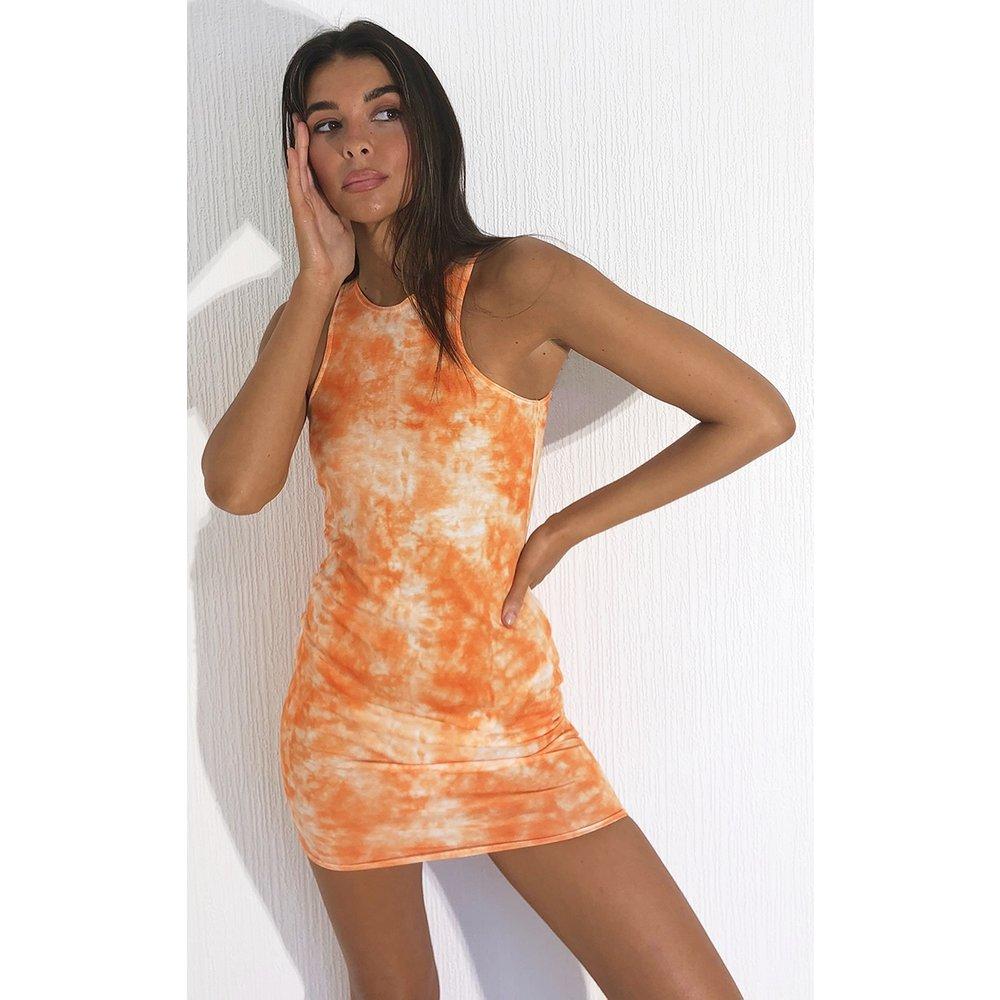 Robe moulante imprimé tie & dye à col nageur - PrettyLittleThing - Modalova
