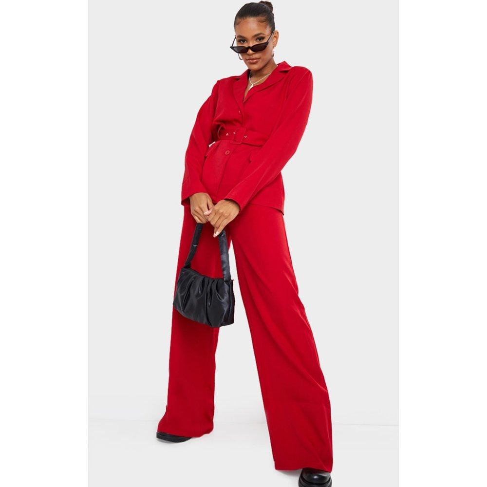 Pantalon de tailleur ample en maille  - PrettyLittleThing - Modalova