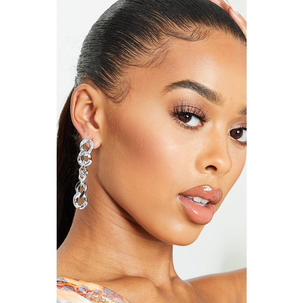 Boucles d'oreilles à chaînes pendantes strassées - PrettyLittleThing - Modalova