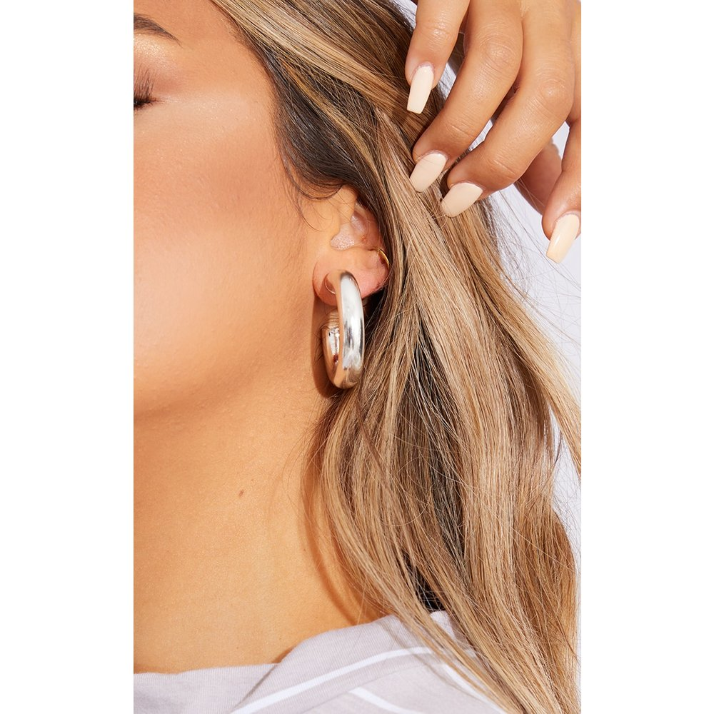 Boucles d'oreilles tubulaires chunky  - PrettyLittleThing - Modalova