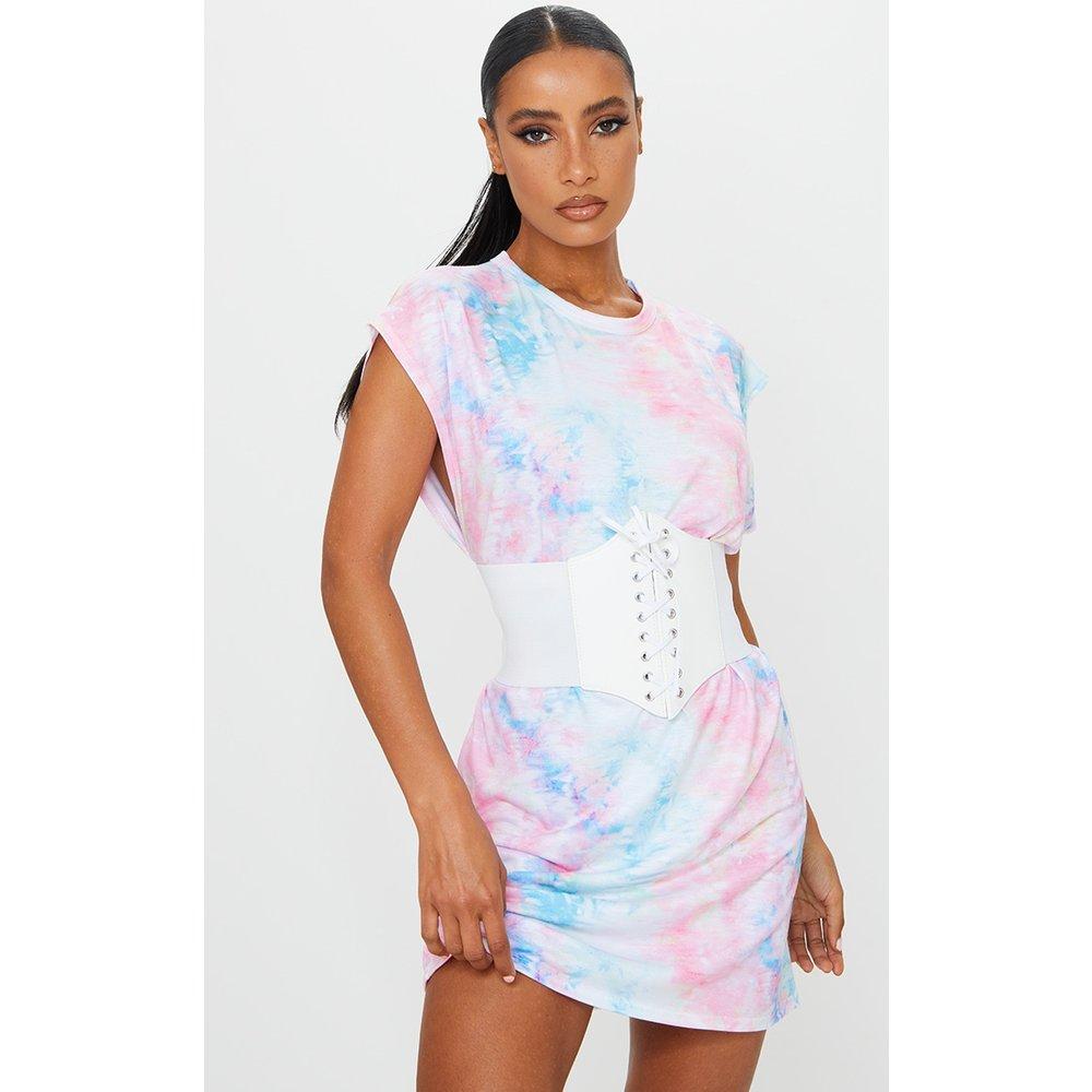 Robe t-shirt pastel imprimé tie & dye sans manches - PrettyLittleThing - Modalova