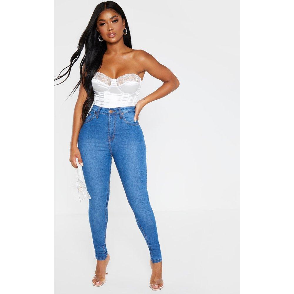 Shape - Jean skinny délavé super stretch à taille haute - PrettyLittleThing - Modalova